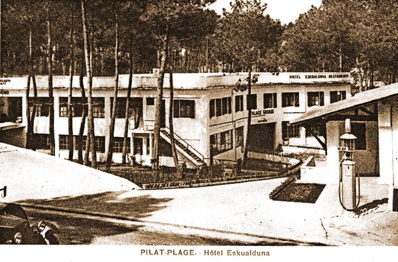 pilat plage hôtel Eskualduna archive la teste de buch