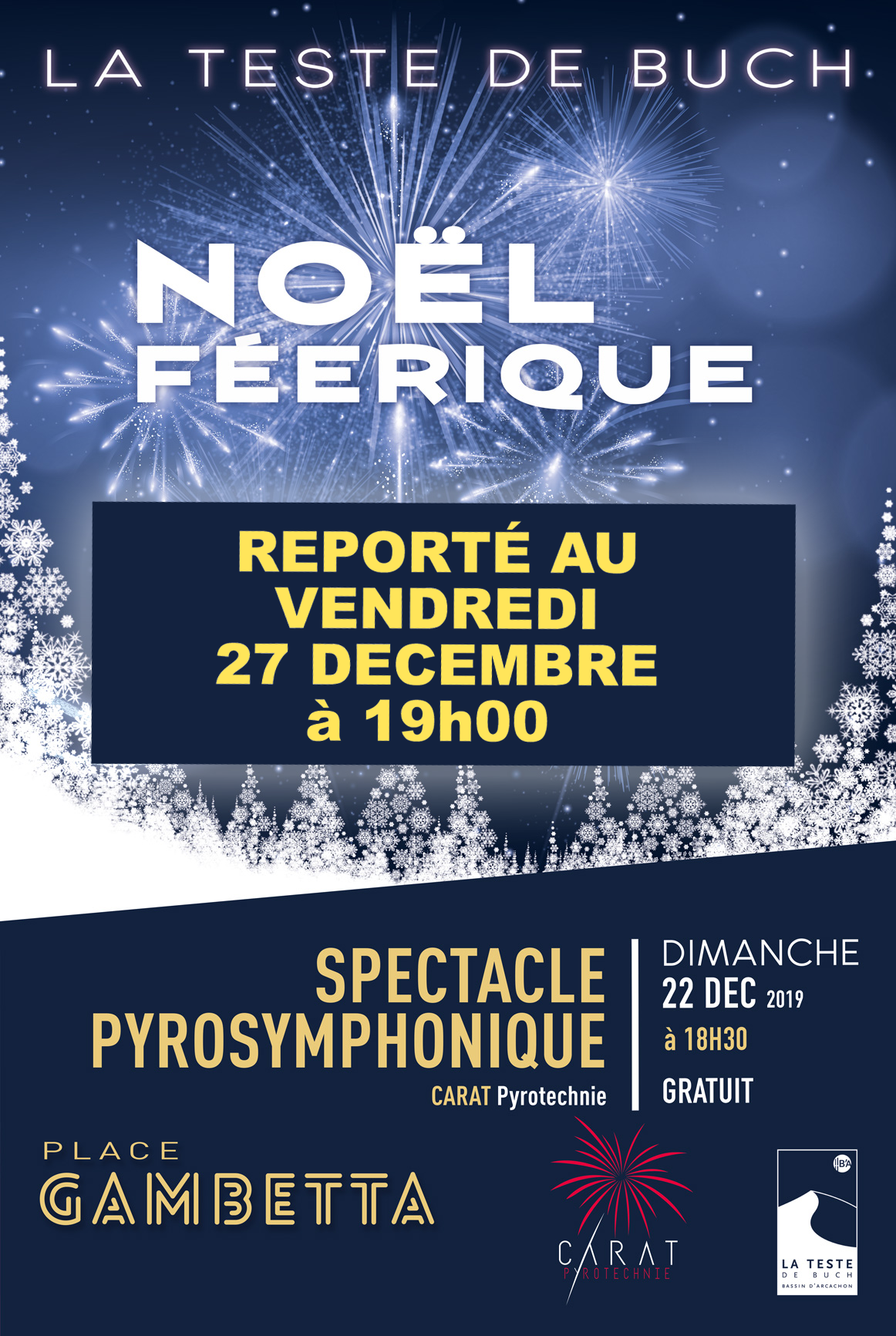 affiche report spectacle noel