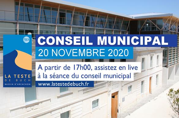 Conseil Municipal du 20 novembre 2020