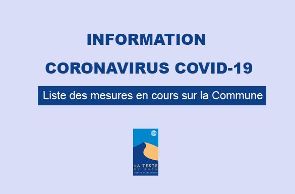 Information Coronavirus : les mesures en cours sur la commune